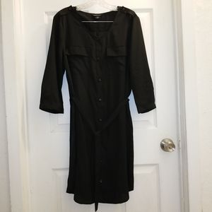 VS Moda International sheer shirt dress